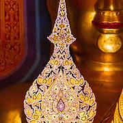 THA/Bangkok/20160729 - Vakantie Thailand 2016 Bangkok,Gouden Ornament in de tempel