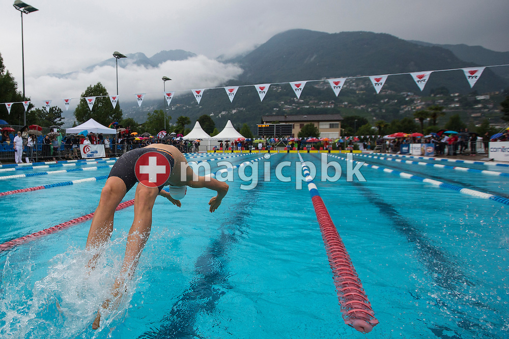 LIMM's Lukas RAEUFTLIN of Switzerland competes in the men's 200m Backstroke Final during the Swiss Swimming Summer Championships held at the 50m outdoor pool at the Centro sportivo nazionale della gioventu in Tenero, Switzerland, Friday, July 4, 2014. (Photo by Patrick B. Kraemer / MAGICPBK)