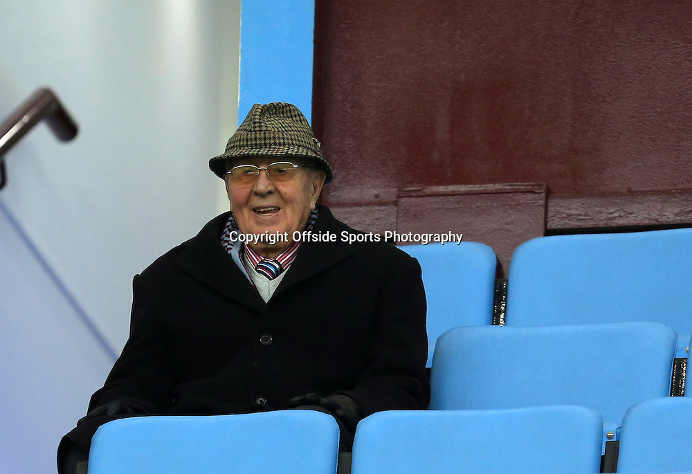 15th February 2015 - FA Cup 5th Round - Aston Villa v Leicester City - Aston Villa director and former chairman Doug Ellis pictured prior to kick off - Photo: Paul Roberts / Offside.