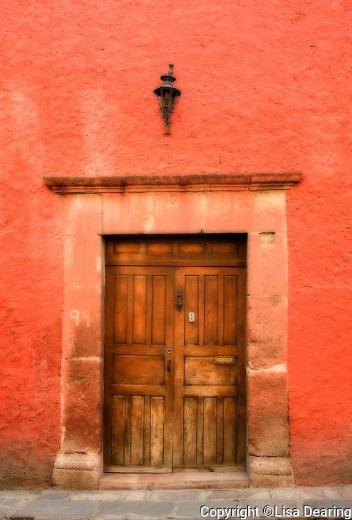 Colonial Spanish Doorway, Guanajuato, Mexico