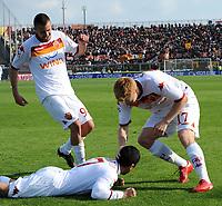 Fotball<br /> Italia<br /> Foto: Inside/Digitalsport<br /> NORWAY ONLY<br /> <br /> David Pizarro celebrates scoring<br /> John Arne Riise<br /> <br /> 14.03.2010<br /> Livorno v Roma<br /> Campionato Italiano di Calcio Serie A 2009/2010