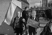 Anti-Trump demonstration. Westminster.  London. 20 February 2017