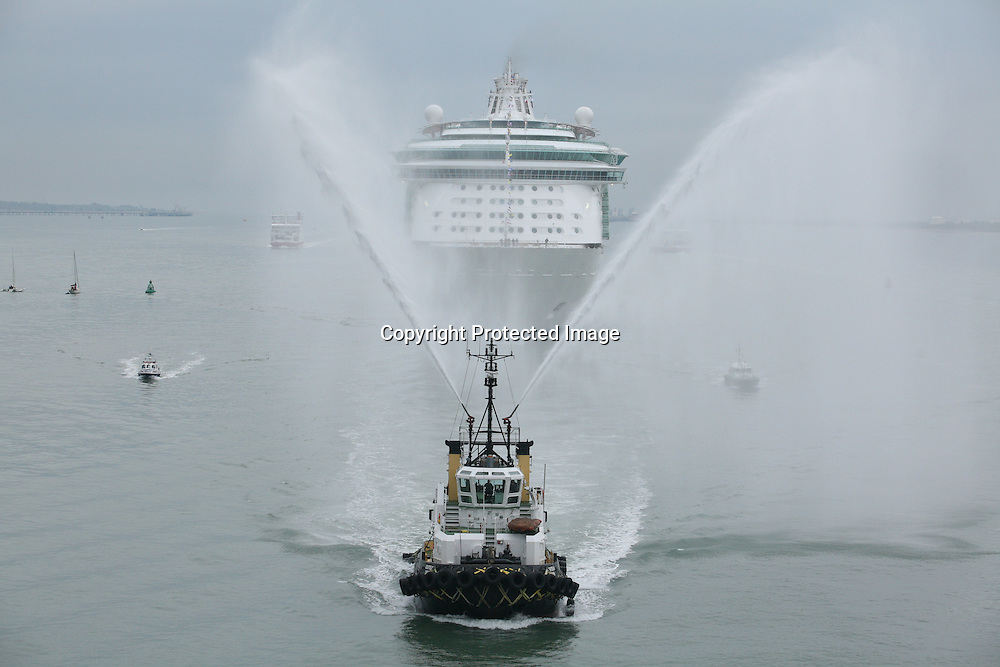Freedom of the seas in Southampton.