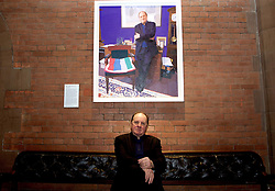 Broadcaster Jim Naughtie at the unveiling of the portrait of him by the artist Brendan Kelly now on display at the Scottish National Portrait Gallery in Edinburgh 11042018<br /> <br /> Terry Murden @edinburghelitemedia