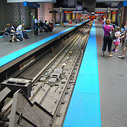 CTA train tunnel in Chicago, IL.<br /> <br /> The nation's second largest public transportation system provides rail, bus, and other transportation information for travel around Chicago.