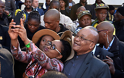 (in the pic - President Zuma takes selfies with youth during the June 16 commemoration). President Jacob Zuma delivers the national message during the commemoration of the 40th Anniversary of the June 16, 1976 uprising in Soweto, Johannesburg. Youth Day recognises and celebrates the role of South African youth in the liberation struggle, while also commemorating the pain and the sacrifices that young people made so that we can all be free from the yoke of racist oppression. The anniversary of the historic uprising will be commemorated under the theme ''Youth Moving South Africa Forward. 16/06/2016, Elmond Jiyane, GCIS (Credit Image: © Xinhua via ZUMA Wire)