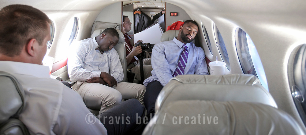 Samuel and Lewis nap while heading back to Columbia after a long day. ©Travis Bell Photography