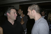 Dexter Fletcher and Tom Hardy, The 25th hour post party at the Plaza on the River, 18 Albert Embankment. Culmination of the 24 Hour Plays Celebrity Gala at the Old Vic.London. 8 October 2006.  -DO NOT ARCHIVE-© Copyright Photograph by Dafydd Jones 66 Stockwell Park Rd. London SW9 0DA Tel 020 7733 0108 www.dafjones.com