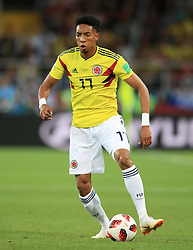 Colombia's Johan Mojica during the FIFA World Cup 2018, round of 16 match at the Spartak Stadium, Moscow. PRESS ASSOCIATION Photo. Picture date: Tuesday July 3, 2018. See PA story WORLDCUP England. Photo credit should read: Adam Davy/PA Wire. RESTRICTIONS: Editorial use only. No commercial use. No use with any unofficial 3rd party logos. No manipulation of images. No video emulation