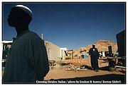 Wadi Halfa, Sudan  030406  A man rests under the shade in the city of Wadi Halfa in Sudan, a town bordering Lake Nasser which stradles Sudan and Egypt. (Essdras M Suarez/ Globe Staff)