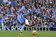 Brighton and Hove Albion defender Gaetan Bong (3) during the Premier League match between Brighton and Hove Albion and Southampton at the American Express Community Stadium, Brighton and Hove, England on 29 October 2017. Photo by Phil Duncan.