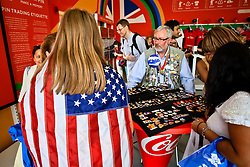 Pin collecting is big business at the Olympics.