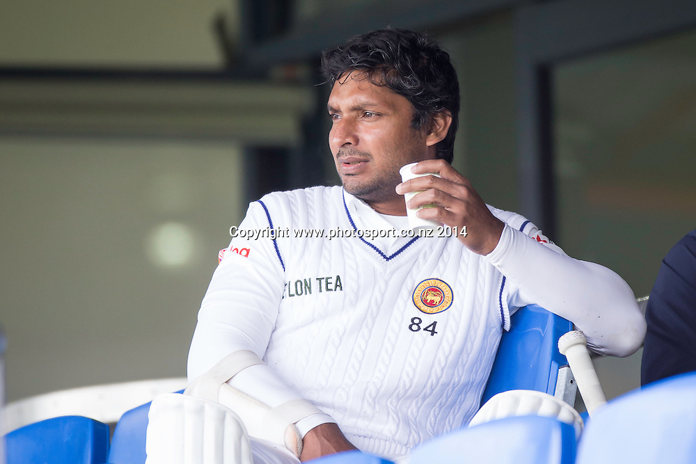 Sri Lanka: Kumar Sangakkara: New Zealand XI v Sri Lanka - Day 1, Queenstown, 21 December 2014 CREDIT: Libby Law / www.photosport.co.nz