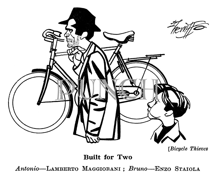 Bicycle Thieves : Antonio - Lamberto Maggiorani ; Bruno - Enzo Staiola