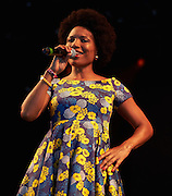 MALMESBURY, UK - JULY 31: Lura performs on stage at Womad on July 31st, 2016 in Wiltshire, United Kingdom. (Photo by Philip Ryalls)**Lura