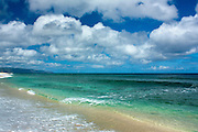 Crystal clear ocean and clouds on Oahu's north shore, Hawaii
