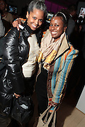 1 March 2011- New York, NY- Photographer Margarita Corporan and Elsa Mehary at the record release party for Marsha Ambrosius's  debut solo album  ' Late Nights and Early Mornings ' presented by J Records, DIgiwaxx, Hennessey and BET Centric and held at the Samsung Experience at The Time Warner Center on March 1, 2011 in New York City. Photo Credit: Terrence Jennings