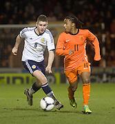 Holland's Lerin Duarte and Scotland's Thomas Cairney - Scotland v Holland - UEFA U21 European Championship qualifier at St Mirren Park..© David Young - .5 Foundry Place - .Monifieth - .Angus - .DD5 4BB - .Tel: 07765 252616 - .email: davidyoungphoto@gmail.com.web: www.davidyoungphoto.co.uk