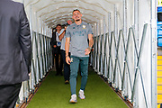 Leeds United midfielder Kalvin Phillips (23) arriving during the EFL Cup match between Leeds United and Stoke City at Elland Road, Leeds, England on 27 August 2019.