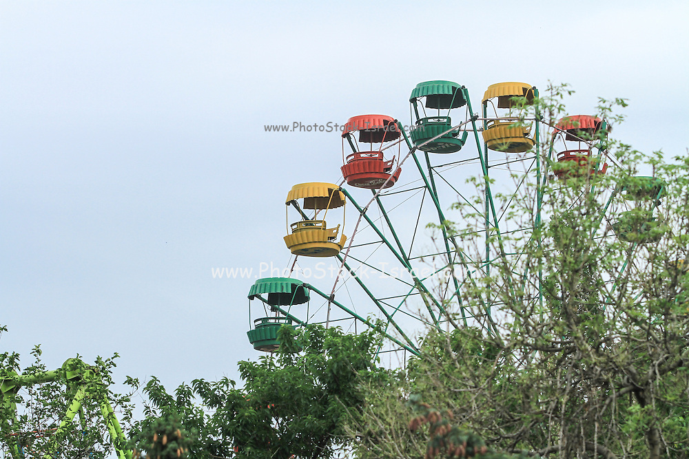 Ferris wheel at an amusement park, Yerevan, Armenia