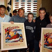 Presentatie Schippers van de Kameleon DVD, tweeling met Rafael van der Vaart, regisseur Steven de Jong