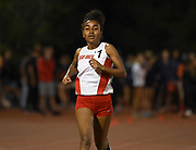 Apr 18, 2019; Azusa, CA, USA; Weini Kelati of New Mexico wins the women's 5,000m in a stadium record 15:23.46 at the Bryan Clay Invitational at Azusa Pacific University.