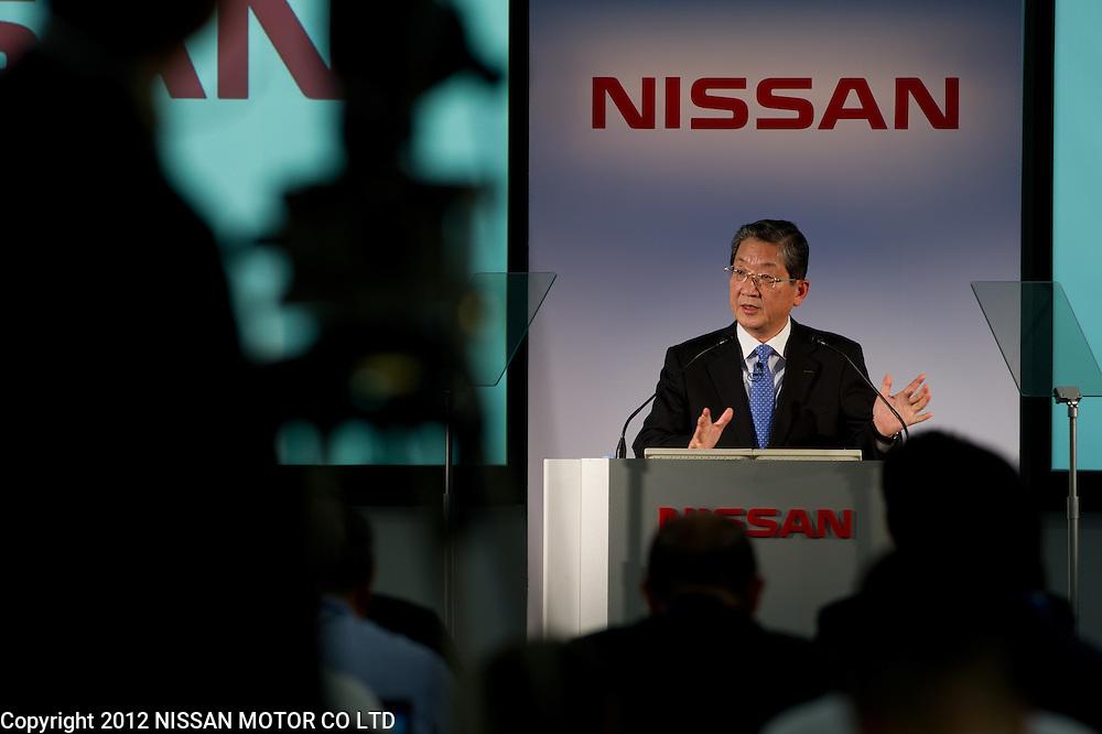 Nissan COO Toshiyuki Shiga announces FY11 Results.