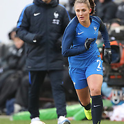 HARRISON, NEW JERSEY- MARCH 4:   Eve Perisset #2 of France in action during the France Vs Germany SheBelieves Cup International match at Red Bull Arena on March 4, 2017 in Harrison, New Jersey. (Photo by Tim Clayton/Corbis via Getty Images)