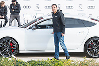 Keylor Navas of Real Madrid CF poses for a photograph after being presented with a new Audi car as part of an ongoing sponsorship deal with Real Madrid at their Ciudad Deportivo training grounds in Madrid, Spain. November 23, 2017. (ALTERPHOTOS/Borja B.Hojas)