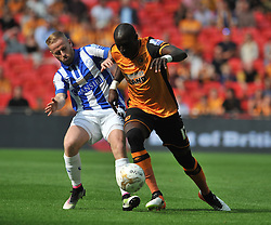 BARRY BANNANHOLDS OF HULLS MO DIAME, Hull City v Sheffield Wednesday Sky Bet Championship Play-Off Final, Wembley Stadium Saturday  28th May 2016.Photo:Mike Capps