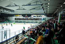 Spectators during ice hockey match between HK SZ Olimpija and HDD Sij Acroni Jesenice in 1. Round of Playoff  in Alps Hockey League 2019/20, on February 13, 2020, in Hala Tivoli, Ljubljana, Slovenia. Photo By Grega Valancic / Sportida