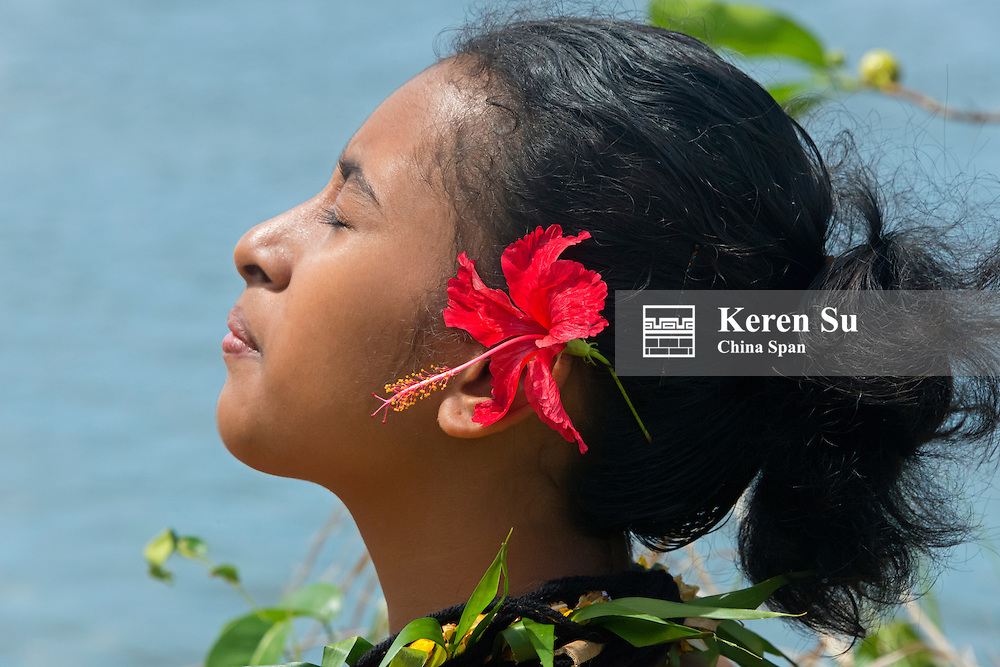 Yapese girl, Yap Island, Federated States of Micronesia