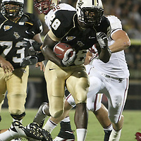 UCF  running back Latavius Murray (28) during an NCAA football game between the Boston College Eagles and the UCF Knights at Bright House Networks Stadium on Saturday, September 10, 2011 in Orlando, Florida. (AP Photo/Alex Menendez)