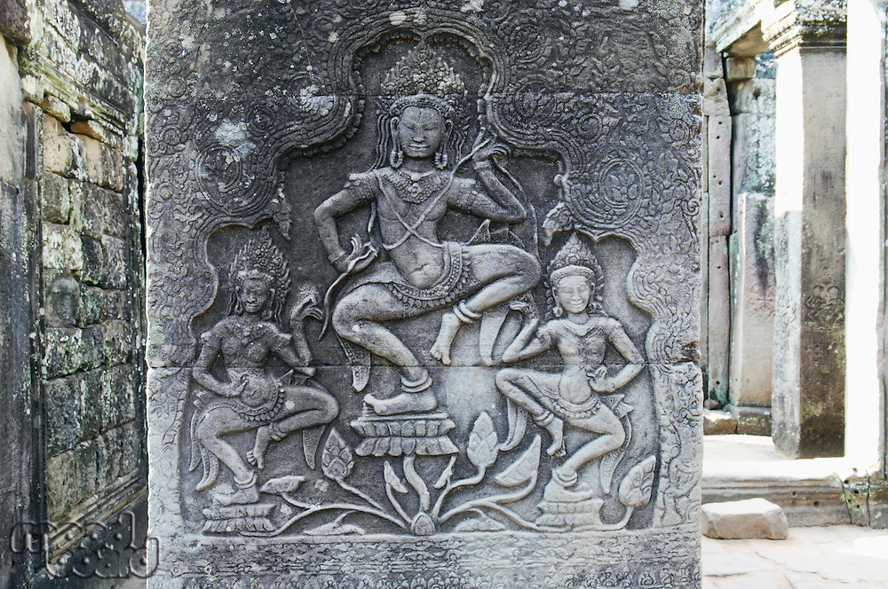 Relief Carvings in Ancient Temple