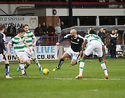 Dundee&rsquo;s Gary Harkins takes a tumble  - Dundee v Celtic, Ladbrokes Scottish Premiership at Dens Park<br />  <br />  - &copy; David Young - www.davidyoungphoto.co.uk - email: davidyoungphoto@gmail.com