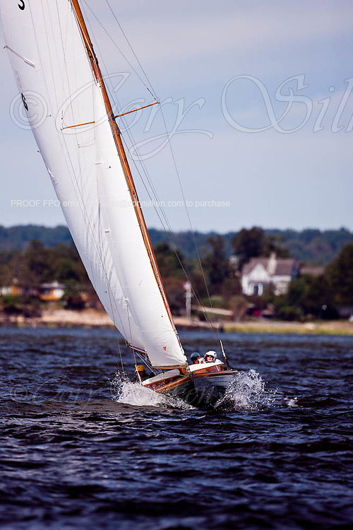 Vela, S Class, sailing in the Indian Harbor Classic Yacht Regatta.