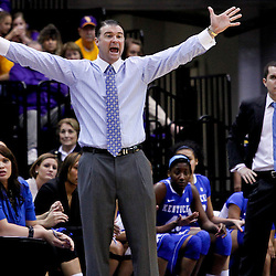 February 5, 2011; Baton Rouge, LA; Kentucky Wildcats head coach Matthew Mitchell against the LSU Lady Tigers during the second half of a game at the Pete Maravich Assembly Center. LSU defeated Kentucky 61-51.  Mandatory Credit: Derick E. Hingle-US PRESSWIRE
