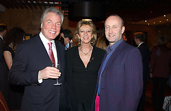 Left to right, CHRIS HUTCHESON father in law of Gordon Ramsay, MARIE-CLAIRE, BARONESS VON ALVENSLEBEN and MR SEBASTIAN SAINSBURY at the opening party of Pengelley's, 164 Sloane Street, London SW1 on 22nd February 2005.<br /><br />NON EXCLUSIVE - WORLD RIGHTS