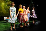 Première toneelstuk Annie M.G. op Soestdijk in Stadsschouwburg Utrecht. Met Annie M.G. op Soestdijk, een tragikomedie over liefde, trouw en ontrouw, geven ze een blik achter de schermen van Paleis Soestdijk eind jaren vijftig. <br /> <br /> Op de foto:   De cast van Annie M.G. op Soestdijk - Annet Malherbe , Ria Eimers , Trudy de Jong , Saskia Temmink en Julia Akkermans vormen de cast van Annie M.G. op Soestdijk