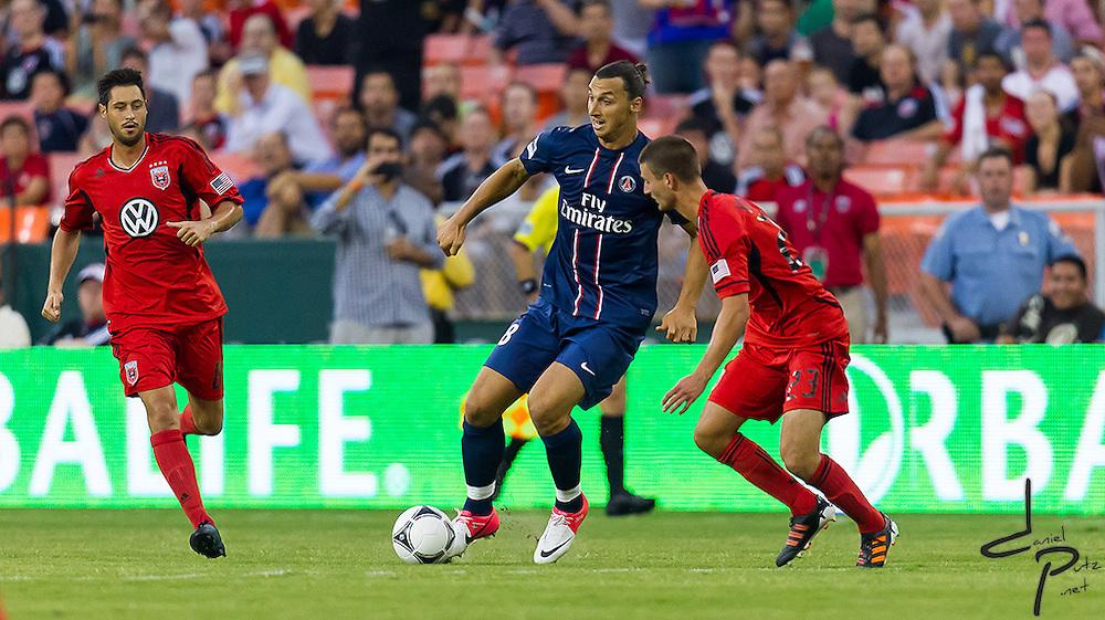 07-28-12: Washington, D.C. - MLS team D.C. United take on Paris Saint-Germain at RFK during the 2012 Herlablife World Football Challenge.