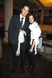 LEAH WOOD and her fiance at the Feast of Albion a sumptious locally-sourced banquet in aid of The Soil Association held at The Guildhall, City of London on 12th March 2008.<br />