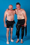 Vater und Sohn Triathleten