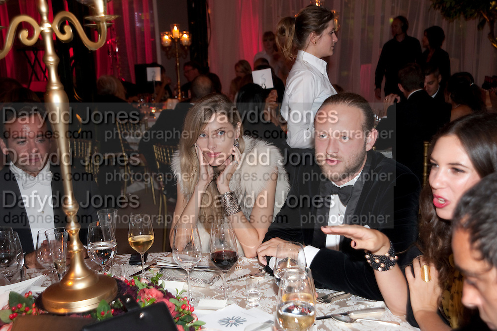 SARA BRAJOVIC; LORD EDWARD SPENCER-CHURCHILL, Evgeny Lebedev and Graydon Carter hosted the Raisa Gorbachev charity Foundation Gala, Stud House, Hampton Court, London. 22 September 2011. <br /> <br />  , -DO NOT ARCHIVE-© Copyright Photograph by Dafydd Jones. 248 Clapham Rd. London SW9 0PZ. Tel 0207 820 0771. www.dafjones.com.