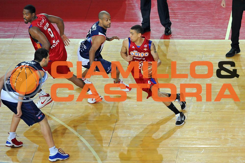 DESCRIZIONE : Roma Lega A 2008-09 Playoff Quarti di Finale Gara 1 Lottomatica Virtus Roma Angelico Biella<br /> GIOCATORE : Ibrahim Jaaber<br /> SQUADRA : Lottomatica Virtus Roma<br /> EVENTO : Campionato Lega A 2008-2009 <br /> GARA : Lottomatica Virtus Roma Angelico Biella<br /> DATA : 18/05/2009<br /> CATEGORIA : Palleggio<br /> SPORT : Pallacanestro <br /> AUTORE : Agenzia Ciamillo-Castoria/G.Vannicelli