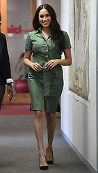 The Duchess of Sussex visiting Action Aid, a gender based violence education club in Johannesburg, South Africa, on day nine of her tour of Africa. PA Photo. Picture date: Tuesday October 1, 2019. See PA story ROYAL Tour. Photo credit should read: Mark Large/Daily Mail/PA Wire