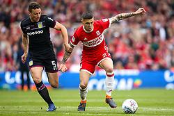 Muhamed Besic of Middlesbrough takes on James Chester of Aston Villa - Mandatory by-line: Robbie Stephenson/JMP - 12/05/2018 - FOOTBALL - Riverside Stadium - Middlesbrough, England - Middlesbrough v Aston Villa - Sky Bet Championship