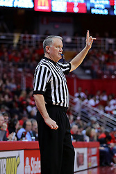 11 February 2017:  Mike Stuart during a College MVC (Missouri Valley conference) mens basketball game between the Bradley Braves and Illinois State Redbirds in  Redbird Arena, Normal IL