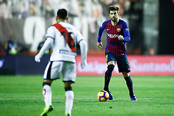 November 3, 2018 - Madrid, MADRID, SPAIN - Gerard Pique of FC Barcelona during the Spanish Championship, La Liga, football match between Rayo Vallecano and FC Barcelona on November 03th, 2018 at Estadio de Vallecas in Madrid, Spain. (Credit Image: © AFP7 via ZUMA Wire)