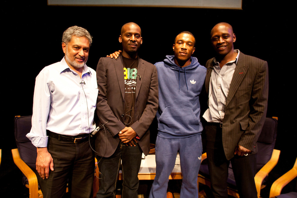 UKCP presents a Project 20:20 , Black Men on the Couch ,an event aiming to change the status quo surrounding counselling and psychotherapy and open it up for those who would previously never have considered it, either for themselves or as a profession. at RADA 12th May 2012. Stuart Lawrence and Fakhry Davids counselling also Ashley Walters and Rotimi Akinsete counselling