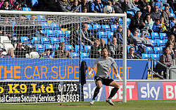 Mark Tyler of Peterborough United can only watch as the ball loops into the back of the next as Ricardo Almeida Santos (not in picture) scores the own goal - Mandatory by-line: Joe Dent/JMP - 23/04/2016 - FOOTBALL - ABAX Stadium - Peterborough, England - Peterborough United v Scunthorpe United - Sky Bet League One